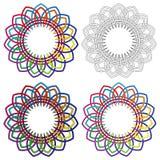 Abstract ornamental shapes Royalty Free Stock Photos
