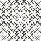 Abstract ornamental stylish outlined geometric background. With structure of repeating diagonal squares - vector seamless pattern Royalty Free Stock Image