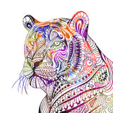 Abstract Ornamental Tiger. Illustration of an Abstract Ornamental Tiger Royalty Free Stock Photo
