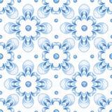 Abstract ornamental watercolor seamless pattern 3. Abstract ornamental blue watercolor seamless pattern vector illustration