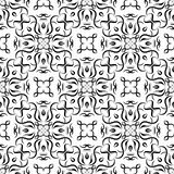Abstract ornament Black and white seamless pattern. Abstract ornaments. Black and white seamless pattern for fabric and wallpapers. Vector illustration royalty free illustration