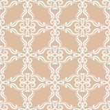 Abstract ornaments. Brown seamless pattern Royalty Free Stock Photos
