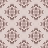 Abstract ornaments. Brown seamless pattern Stock Photos