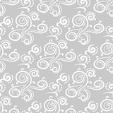 Abstract ornaments. Gray seamless pattern Stock Images