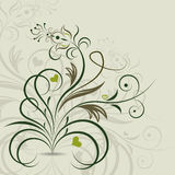Abstract ornate floral design Royalty Free Stock Images