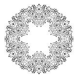 Abstract Ornate Mandala. Decorative frame for design. Royalty Free Stock Photos
