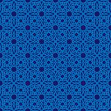 Abstract ornate monochrome blue seamless pattern. Abstract ornate monochrome seamless pattern. Blue colors arabesque islamic. Vector line illustration for Stock Photography