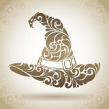 Abstract ornate patterned witch hat Royalty Free Stock Photography