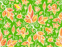 Abstract ornate shining flower seamless pattern Stock Photos