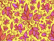 Abstract ornate shining flower seamless pattern Royalty Free Stock Images