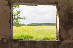 Abstract oud grijs binnenland nadruk op het gebied Stock Fotografie