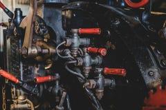 Abstract oud machinereydetail - voortbewegingsstoommotor - Royalty-vrije Stock Afbeelding