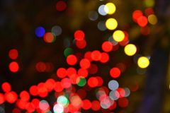 Abstract Out Of Focus Light Dots stock photo