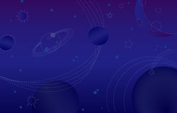 An abstract outer space blue background Royalty Free Stock Photography