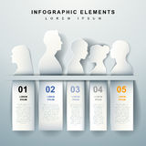 Abstract outline infographics Stock Images
