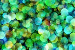 Blurred background- bokeh. Abstract outline of light- colored circles bokeh. Blurred background Royalty Free Stock Images