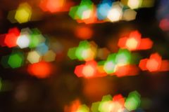 Blurred background- bokeh abstract. Abstract outline of light- colored circles bokeh. Blurred background Royalty Free Stock Photography