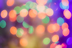 Blurred background- bokeh. Abstract outline of light- colored circles bokeh. Blurred background Stock Image