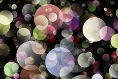 Blurred background- bokeh. Abstract outline of light- colored circles bokeh. Blurred background Royalty Free Stock Image