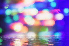 Blurred background- bokeh. Abstract outline of light- colored circles bokeh. Blurred background Stock Photos