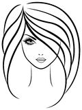 Abstract outline portrait of beautiful girl Stock Photo