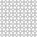 Abstract outline seamless pattern. Vector abstract geometric monochrome dark gray outline seamless pattern Stock Photos