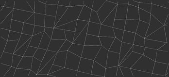 Abstract outline shapes on black background. Royalty Free Stock Photos