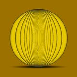 Abstract oval yellow background Stock Image
