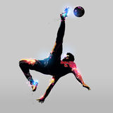 Abstract over head kick Stock Photo
