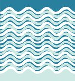 Abstract overzees golf naadloos patroon Golvende streepachtergrond Stock Fotografie
