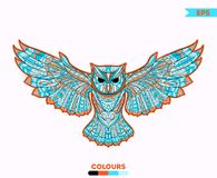 Abstract Owl Colorful Stock Afbeelding