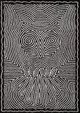 Abstract owl illustration royalty free illustration