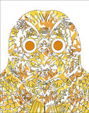 Abstract owl illustration. Abstract orange owl vertor illustration isolated over white background Royalty Free Stock Photos