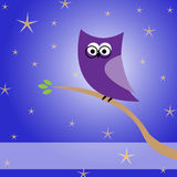 Abstract owl in the night Royalty Free Stock Photography