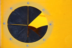 Abstract pac man in the isle of lanzarote spain Stock Photography