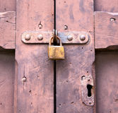 Abstract  padlock rusty  crenna gallarate varese italy Royalty Free Stock Images