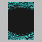 Abstract page template with random lines - blank vector poster illustration on black background Royalty Free Stock Photos