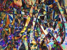 Abstract paint 2. Abstract paint made of wave colorful lines. Illustration made on computer Stock Images