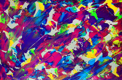 Abstract paint with acrylic colors Royalty Free Stock Images