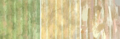 Abstract Paint Brush Grunge Set Stock Image
