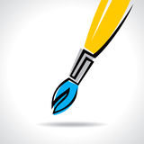 Abstract Paint brush  illustration Royalty Free Stock Photos