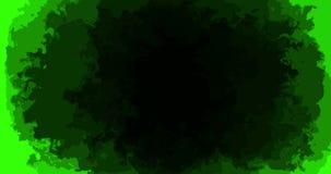 Abstract paint brush stroke shape black ink splattering flowing and washing on chroma key green screen background, artistic ink. Splatter splash effect vector illustration