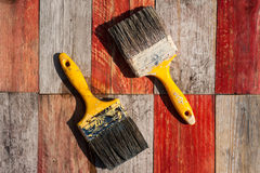 Abstract paint brushes background Stock Image