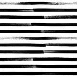 Abstract paint brushstroke seamless background. Black and white hand drawn pattern vector illustration