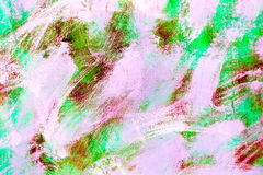 Abstract paint colored brush on cement wall background Stock Image