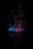 Abstract Paint Dance with Reflection Royalty Free Stock Images