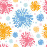 Abstract paint flowers seamless pattern background Stock Photography
