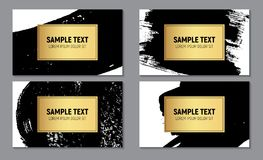 Abstract Paint Glittering Textured Business Card Template  Background. Vector Illustration Royalty Free Stock Images