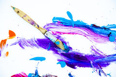Abstract paint and paintbrush Stock Photography