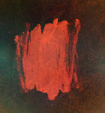 Abstract paint red on glowing dark background Royalty Free Stock Photography